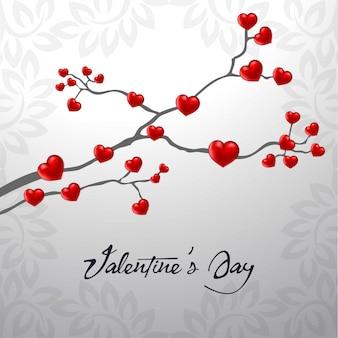 Feliz dia de san valentin corazon