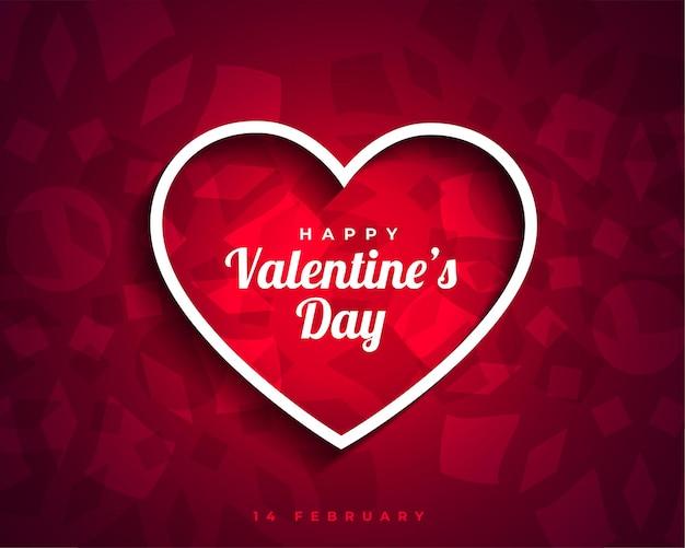 Feliz día de san valentín corazones atractivos tarjeta saludo