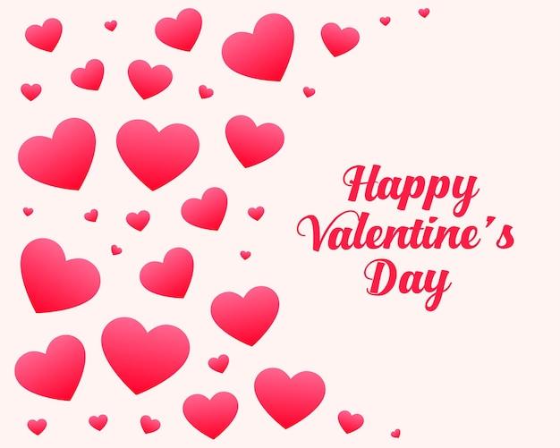 Feliz día de san valentín corazones saludo tarjeta de deseos