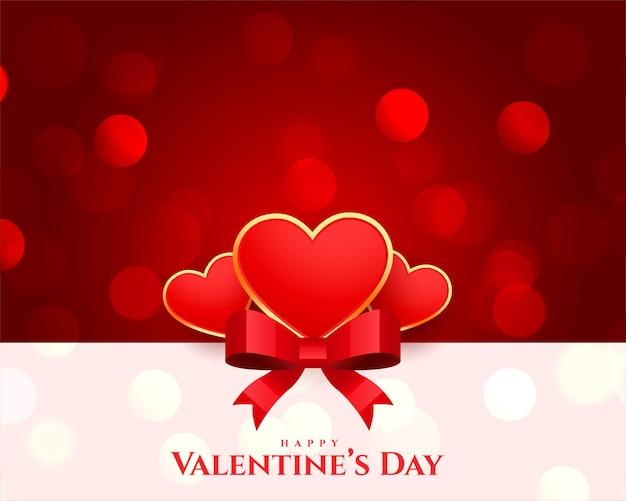 Feliz día de san valentín desea diseño de tarjeta de felicitación