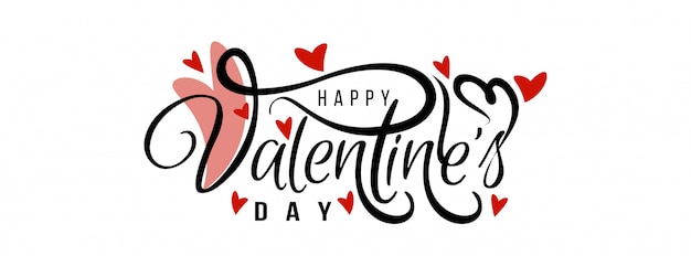 Feliz día de san valentín elegante plantilla de banner de amor