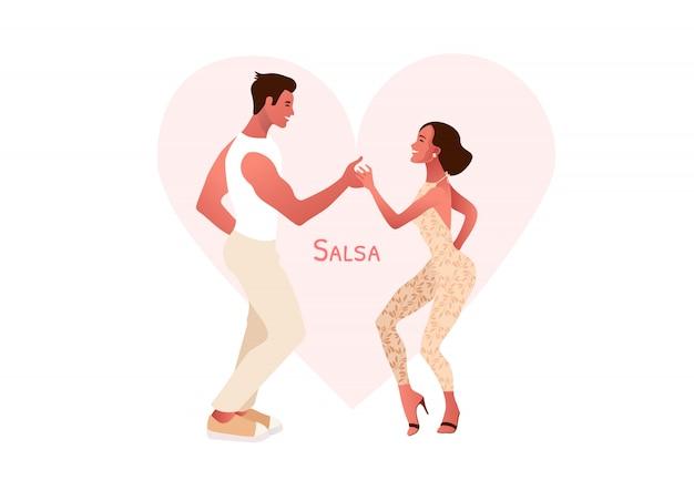 Feliz día de san valentín. fiesta de salsa.