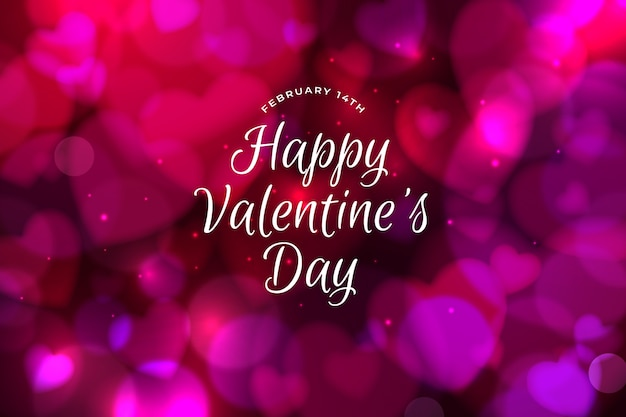 Feliz día de san valentín fondo bokeh