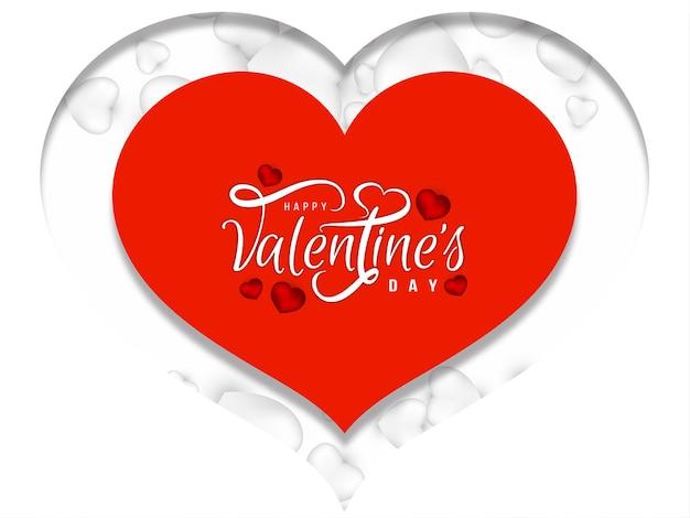 Feliz día de san valentín fondo de corazón de estilo papercut