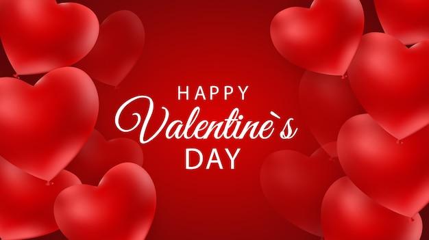 Feliz día de san valentín fondo con corazón