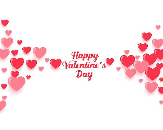 Feliz dia de san valentin fondo de corazones flotantes