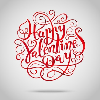 Feliz día de san valentín. fondo de letras vintage dibujados a mano.