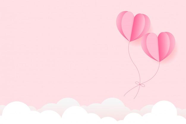 Feliz día de san valentín fondo de la tarjeta de felicitación