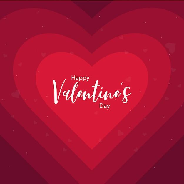 Feliz dia de san valentin de fondo