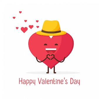 Feliz dia de san valentin, lindo y dulce corazon