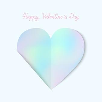 Feliz día de san valentín a mano letras con icono de corazón pastel