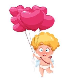 Feliz día de san valentín. niño gracioso cupido