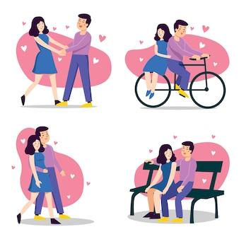 Feliz día de san valentín pareja concepto