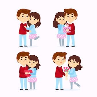 Feliz día de san valentín pareja diseño