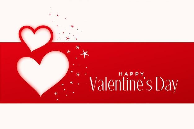 Feliz día de san valentín saludo diseño de corazones