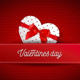 Feliz día de san valentín tarjeta de felicitación del corazón