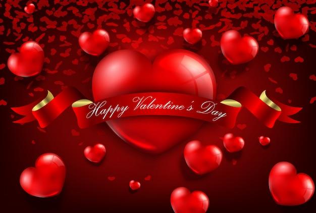 Feliz día de san valentín tarjeta de felicitación