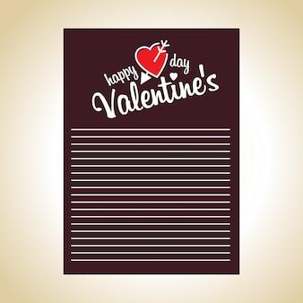 Feliz día de san valentín tarjeta con tema drak