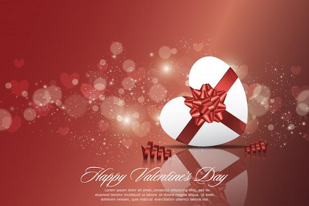 Feliz día de san valentín tarjetas de felicitación con adornos