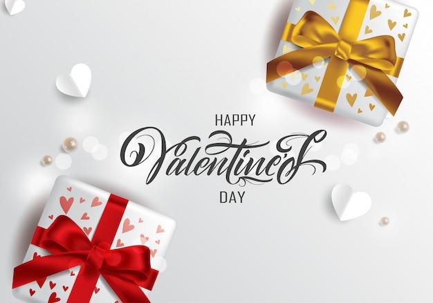 Feliz día de san valentín tipografía, tarjeta de felicitación