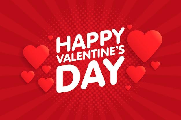 Feliz día de san valentín vintage tarjeta de felicitación. fondo con corazones