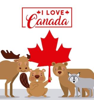 Feliz día de tarjeta de canadá