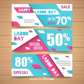 Feliz día del trabajador banner super oferta