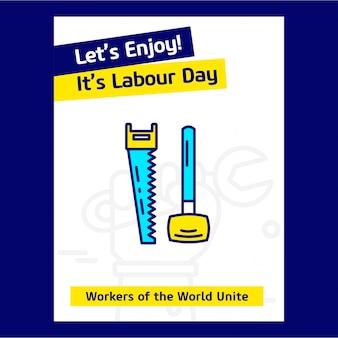 Feliz día del trabajo estados unidos