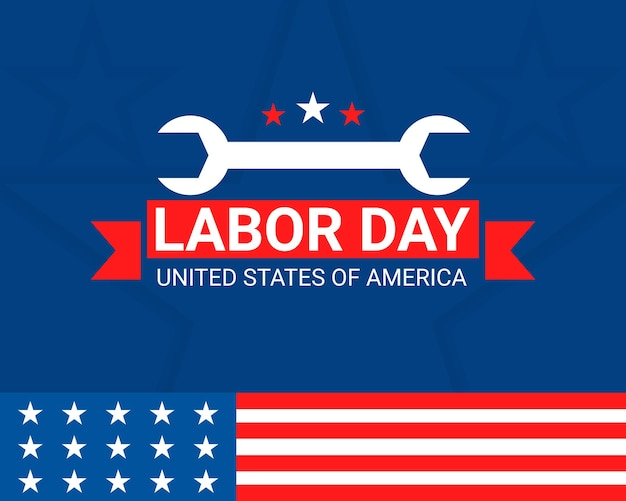Feliz dia del trabajo de estados unidos