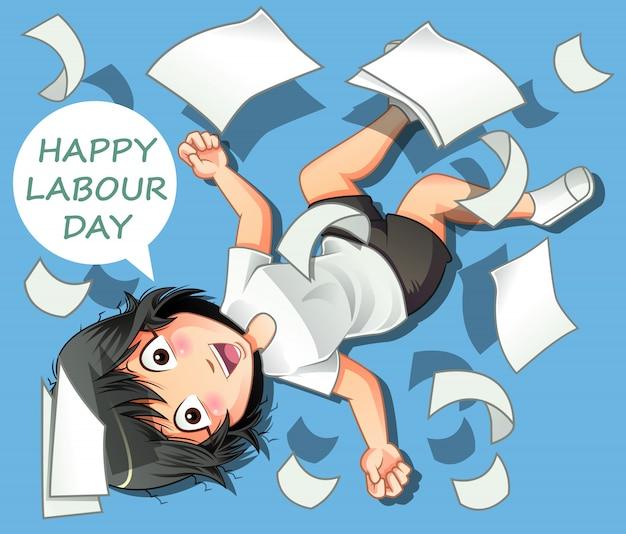Feliz día del trabajo.