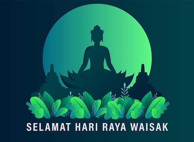 Feliz día de vesak budha purnama