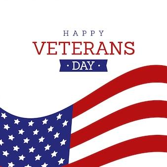 Feliz día de los veteranos tarjeta de felicitación