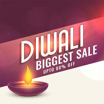 Feliz diseño de banner de venta diwali