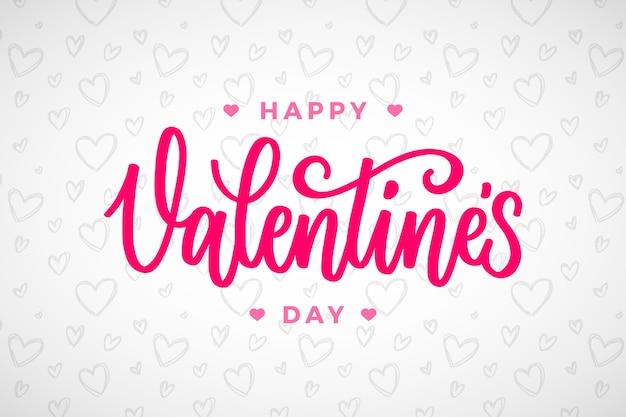Feliz diseño de letras del día de valentiens