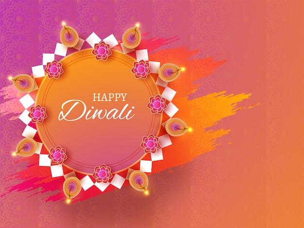 Feliz diwali celebration concept.