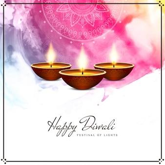 Feliz diwali colorido fondo religioso