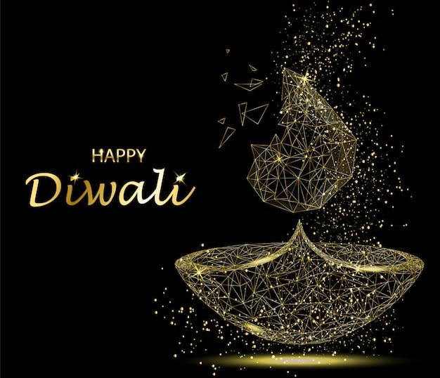 Feliz diwali deepavali festival de luz y fuego.