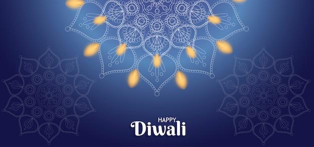 Feliz diwali fondo con fuego