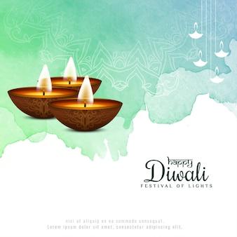 Feliz diwali hermoso festival religioso de fondo