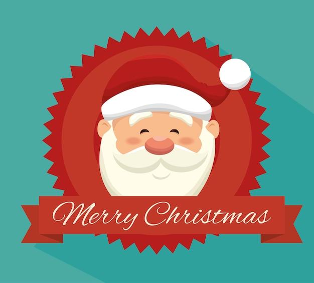 Feliz feliz navidad aislado icono de diseño