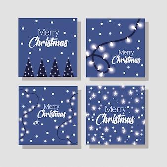 Feliz feliz navidad paquete de tarjetas
