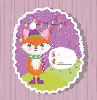 Feliz feliz tarjeta de navidad