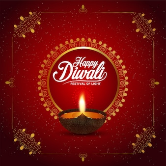 Feliz festival de diwali de fondo claro
