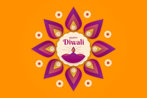 Feliz festival de diwali de fondo de luces