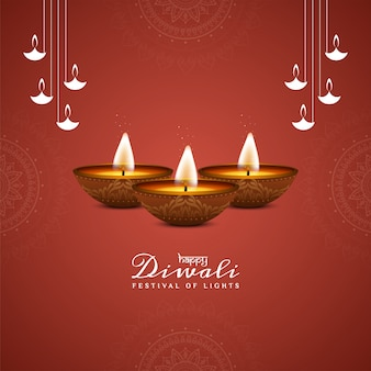 Feliz festival de diwali hermoso fondo decorativo