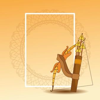 Feliz festival dussehra de india