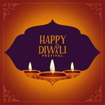 Feliz festival tradicional de diwali desea diseño de fondo