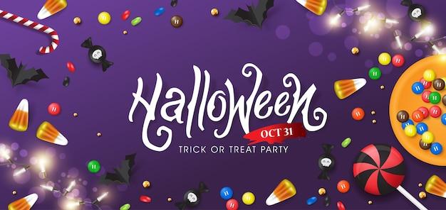 Feliz fiesta de banners de halloween.