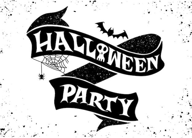 Feliz fiesta de halloween, banner de texto