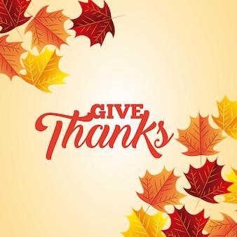 Feliz fondo de acción de gracias